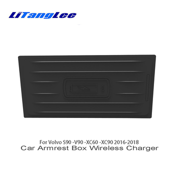 LiTangLee Wireless Charger for Volvo S90 2017 2018 V90 2017 2018 XC60 2018 XC90 2016~2018 Car Quick Charge Fast Mobile Phone