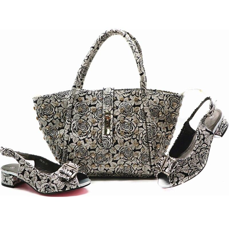 Rivet Chaussures Dernières Parti 1 Assortis Africain Haute 6 3 4 Luxe Avec Pompes Sacs 5 2 Décoré 7 Designers Les Italiennes De Qualité Femmes fqqrd6