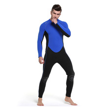 C229 New 3MM thick male warm winter swimwear diving suit snorkeling dress long sleeve even body jellyfish clothing surf