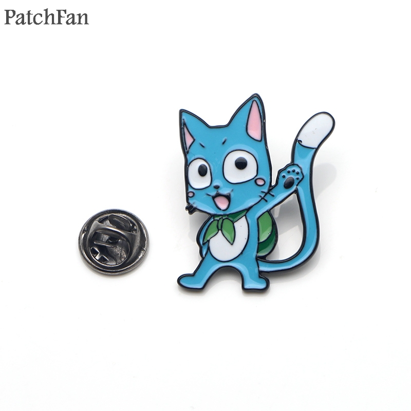 Well-Educated Patchfan Fairy Tail Zinc Tie Diy Cartoon Funny Pins Backpack Clothes Brooches For Men Women Hat Decoration Badges Medals A1500 Badges Arts,crafts & Sewing