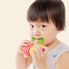 Купить с кэшбэком itty-bitty Baby Toys Rattle Animal Teether Soft Plush Stuffed Montessori Educational Toy Handle Toys for 0-12 Months Baby Toy