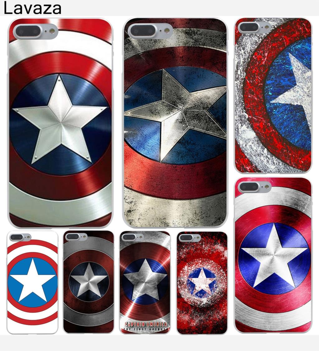 Lavaza Marvel Hero Captain America Hard Case Shell for Apple iPhone 6 6s 7 8 Plus 4 4S 5 5S SE 5C for iPhone XS Max XR Cases marvel glass iphone case