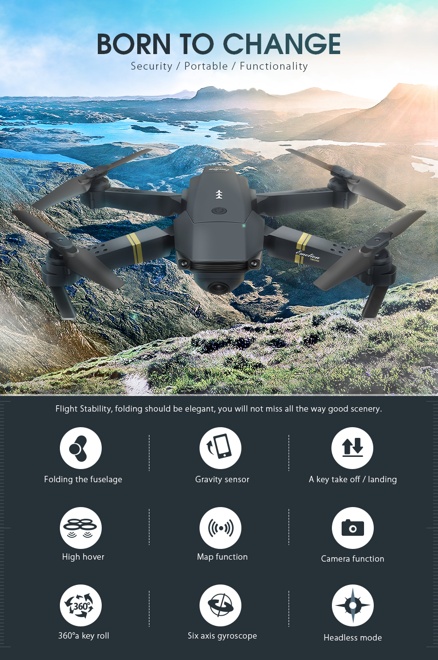 Eachine E58 WIFI FPV with 720P/1080P Wide Angle HD Camera 8