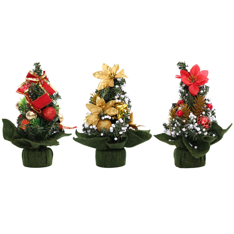 Mini Christmas Tree 20cm Height Christmas Decorative Tree Crafts Great Festival Gifts For Kids Home Decoration Accessories