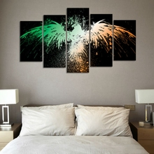 Wall Art Poster Modern Home Decor Living Room 5 Pieces Watercolor Animal Eagle Canvas HD Printed Painting Modular Pictures Frame