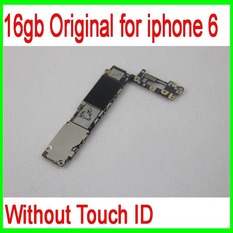 imágenes para Buena Calidad 64 gb para iphone 6 Placa Base sin Función Touch ID, 100% Abierto Original para iphone 6 Placa Base, envío Libre