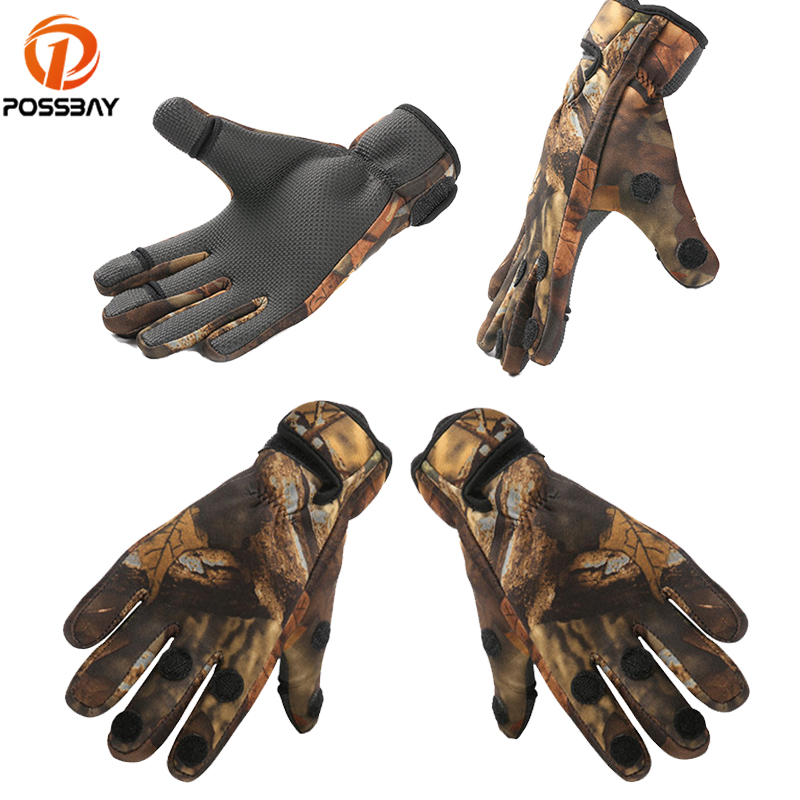 POSSBAY Motorcycle Gloves Motocross Fishing Gloves for Cycling Racing Outdoor Sports Full Finger for Motor Guantes
