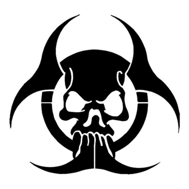 Nuclear Hazard Symbol Black And White Cool