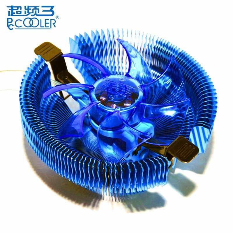 PCCOOLER E92F 90mm 4 Pin Biru LED CPU Cooler Cooling Fan untuk Intel LGA775 115X untuk AMD AM2 AM2 + CPU Cooling Fan
