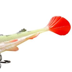 Image 5 - صنمايل 5 قطعة الصيد لينة إغراء طعم سمك تهزهز 85 مللي متر/12.5 جرام الاصطناعي الطعوم سويمبلر Leurre Souple إغراء ل بايك باس جثم