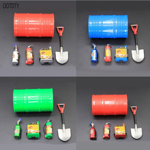 5pcs 1/10 RC Crawler Oil Drum Set Fire Extinguisher Model For Axial SCX10 90047 TAMIYA CC01 D90 D110 TF2 TRX4 1 10 rc crawler accessory parts fire extinguisher model for axial scx10 trx4