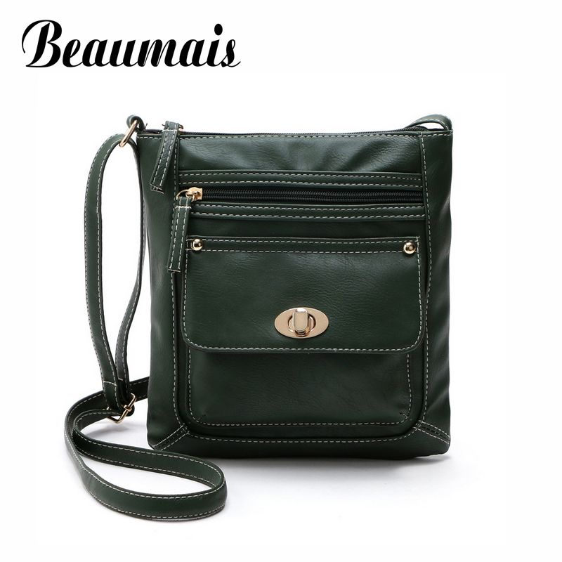 Beaumais Vintage Small Flap Shoulder Bag For Women 2017 New Arrival Pu Leather Women Messenger Bags Small Handbag Bolsas BG684 vogue star summer bag famous brand women messenger bag pu leather women shoulder bag small mini flap bag bolsas lb14
