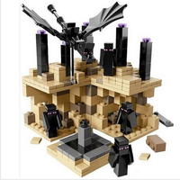 Far Lands Steve EnderDragon Iron Golem Model Brinquedos Juguetes Minecraft Toys Baby Kids Toys Anime Action