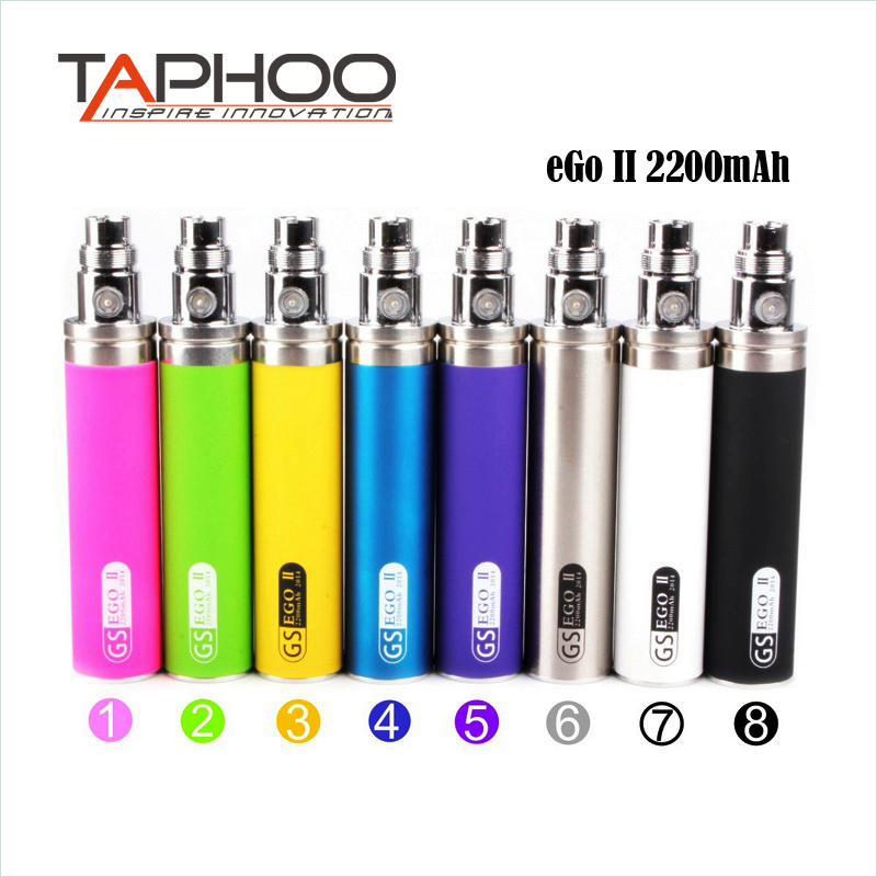 Greensound GS Colorful <font><b>2200mah</b></font> eGo II <font><b>e</b></font> <font><b>cigarette</b></font> <font><b>battery</b></font> for ce3 ce4 ce5 atomizer ego-t 510 thread ego <font><b>battery</b></font> image