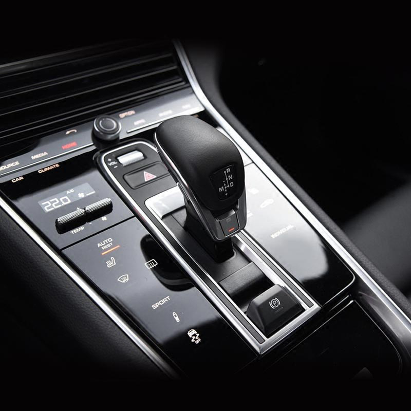 Interior Inner Console Gear Shift Panel Cover Protective Film A Set For Porsche Panamera 2017 2018 In Mouldings From Automobiles Motorcycles On