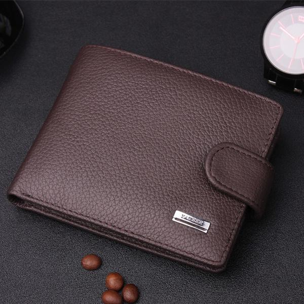 2 Colors  Leather  Business Men Wallet  Short Design  Clutch Wallets Money Purse  Coin Pocket Man Wallet macygraymg real crocodile leather wallet man purse business purse men leisure wallet men short wallet