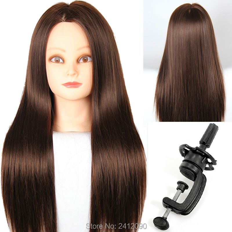 mannequin heads for hair styling brown hair styling mannequins 60cm cosmetology mannequin 7743