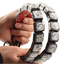 Waterproof Flexible 2pcs LED Car Strip Light DRL Daytime Running Light Fog Lamp 12V 6 Led 8 Led 10 Led 12 Led 14 Led va2445 led
