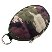 10pcs( ABDB Camouflage Key & Coin Case Duck coin case / key case / Pass Case carabiner typ With six consecutive hook