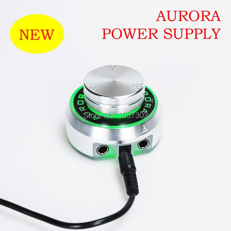 Professional Aurora Tattoo Power Supply with Power Adaptor for Coil & Rotary Tattoo Machines switching adaptor power supply with power line z020t dedicated zhouyu the first tool 60w big power motor