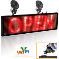 64*16 Pixels P5mm Wif Auto LED Signs Panel, 12V Car Scrolling Ad Message Display Board SMD Indoor Screen Support iOS phone