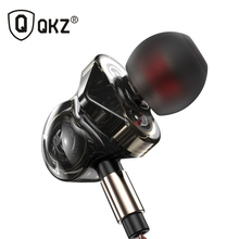 QKZ KD6 Earphone 6 Units Balanced Armature BA Drivers In-Ear Monitor Noise Cancelling Custom fone de ouvido auriculares