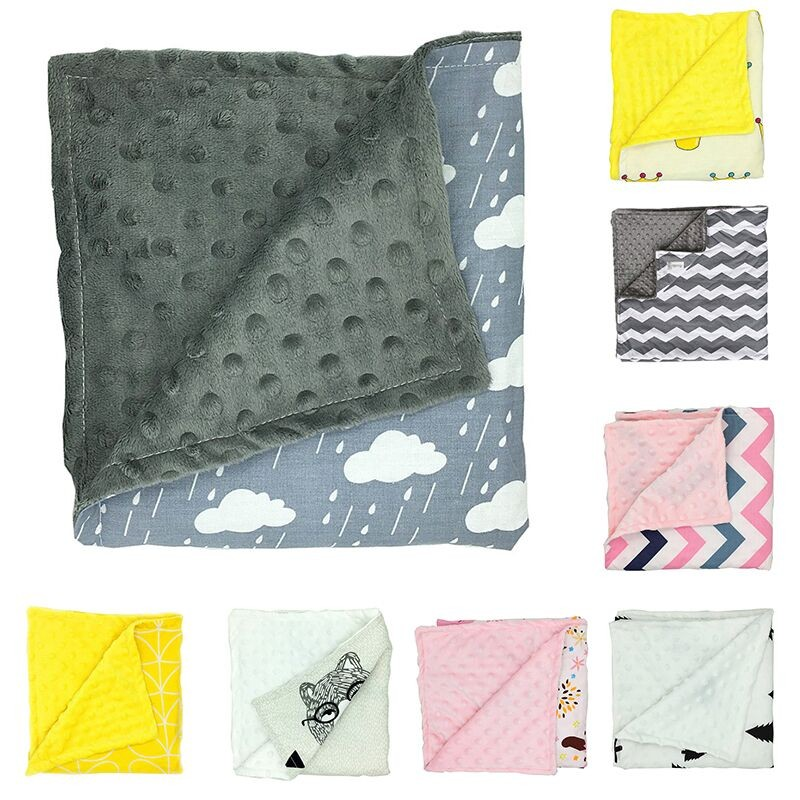 85x73cm kids blankets thicken double layer printed fleece throws 9 styles cashmere blanket mantas de cama