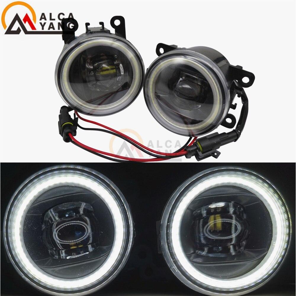 2x Super Bright LED Fog Light With Angel eye white light For Ford Ranger 2005 2006