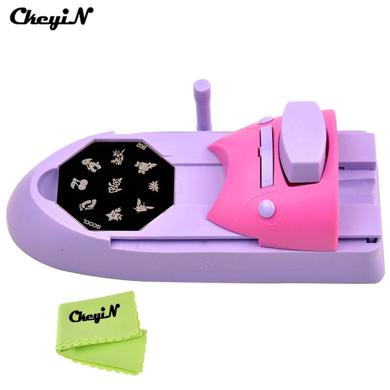 Nail Art Printer Diy Pattern Sting Printing Machine 6 Metal Plates Colors Drawing