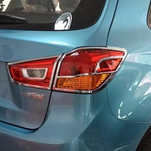 ABS Chrome Taillight Cover For Mitsubishi ASX 2013 2015 Car Exterior Accessories