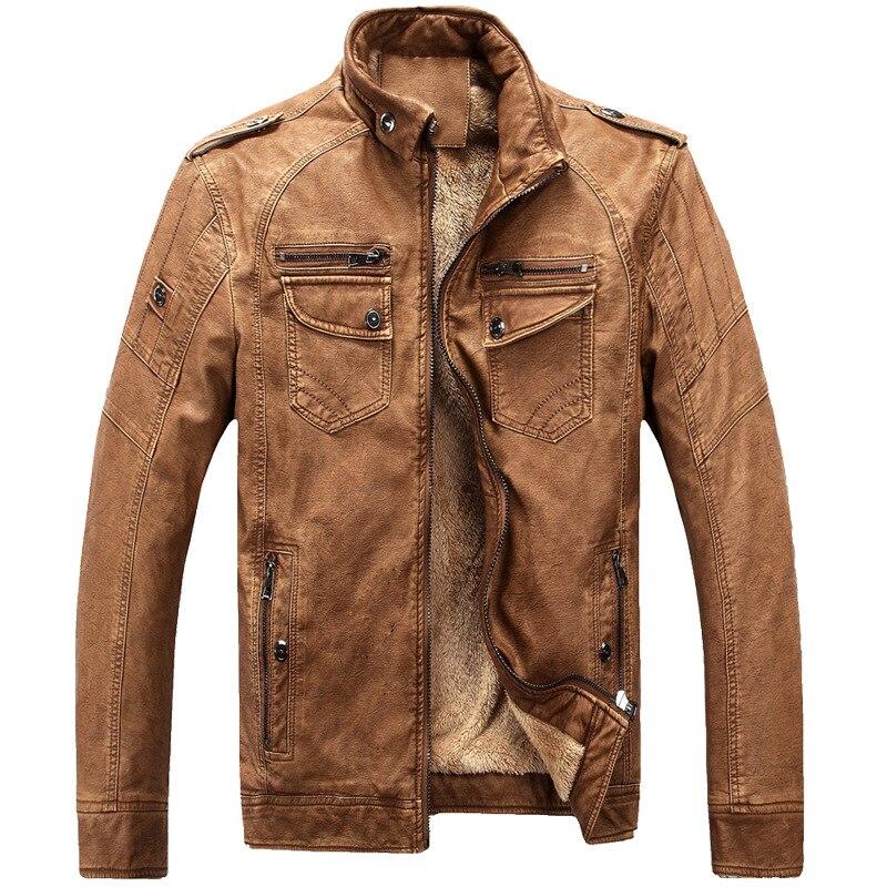 ジャケット男性 Pu レザースタンド襟厚く暖かい 4xl プラスサイズのジャケットとコートの冬ブランド服生き抜くクラシック c1594  グループ上の メンズ服 からの ジャケット の中 3