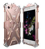 Originale Simon THOR IRONMAN Esterno Antiurto Caso Telaio In Alluminio Anti-bussare Copertura Posteriore del Metallo per il iphone 7 7 Plus Oro rosa
