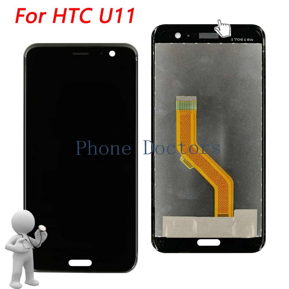 5.5 Full LCD DIsplay +Touch Screen Digitizer Assembly For HTC U11 U-3u U-3w U-1w U-3f 2PZC500  ; Black ; 100% Tested5.5 Full LCD DIsplay +Touch Screen Digitizer Assembly For HTC U11 U-3u U-3w U-1w U-3f 2PZC500  ; Black ; 100% Tested