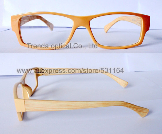Injection reading glasses with flex hinge, wood color finish, only for wholesale MOQ 100 dozen