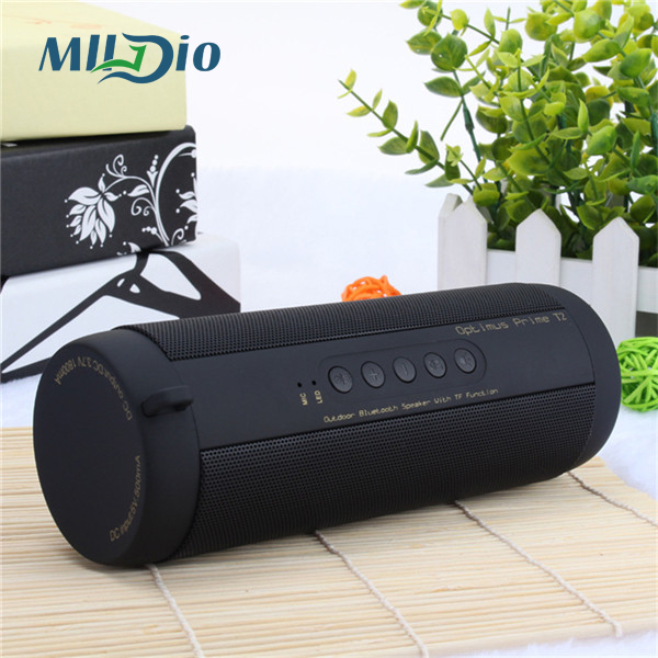 Mlldio IPX5 Waterproof Bicycle wireless bluetooth speakers portable mini 6W soundbar column mp3 player support Aux/FM radio/TF