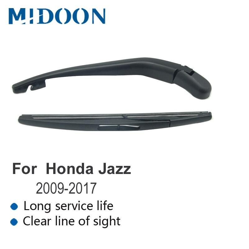 MIDOON brazo del limpiaparabrisas trasero y trasera del limpiaparabrisas para Honda Jazz/para Honda Fit 2002, 2003, 2004, 2006, 2007 2008, 2009