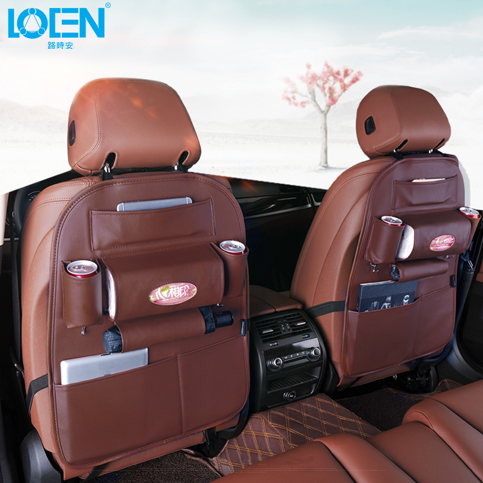 Kualiti PU Kulit Auto SUV Seat Kereta Kembali Penganjur untuk Telefon - Aksesori dalaman kereta - Foto 3