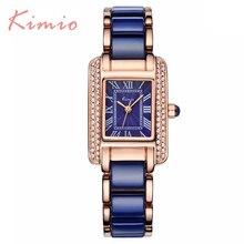 Kimio Marque De Luxe Diamant horloge femelle Quartz Femmes Montres Bracelet Dames Argent Robe fille Montre-Bracelet avec Boîte-Cadeau Relojes