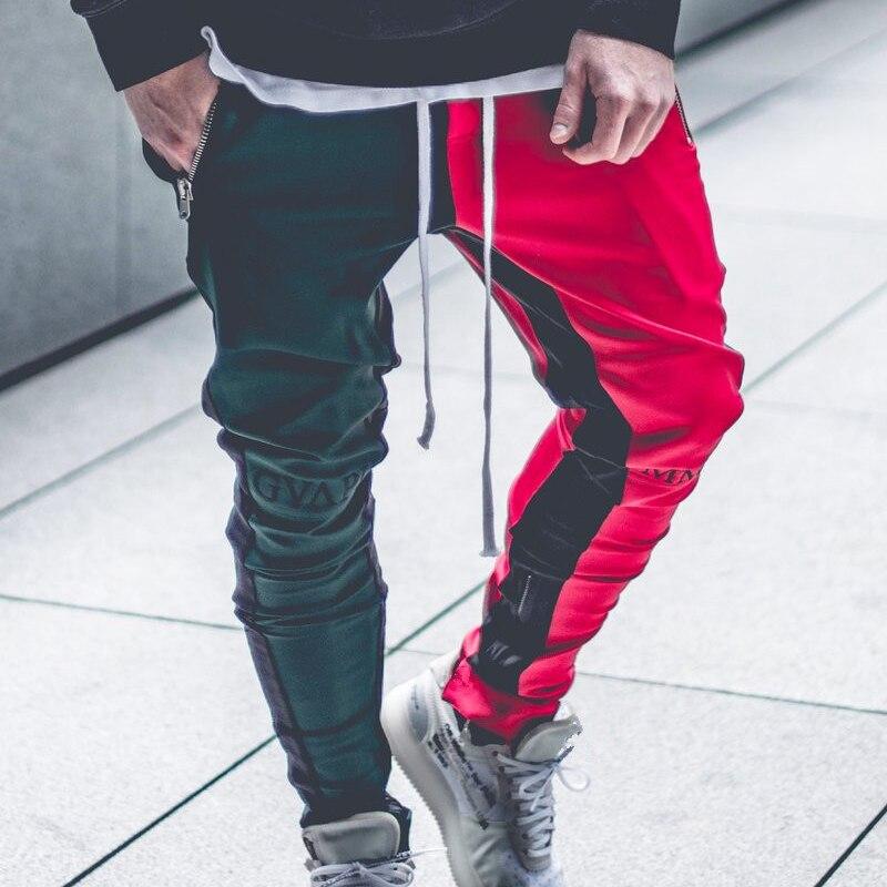 Image 3 - April MOMO 2019, Мужские штаны для бега, пэчворк, для тренажерного зала, для мужчин, для фитнеса, бодибилдинга, для тренажерного зала, штаны для бега, одежда, спортивные штаны, брюки Hombre-in Узкие брюки from Мужская одежда
