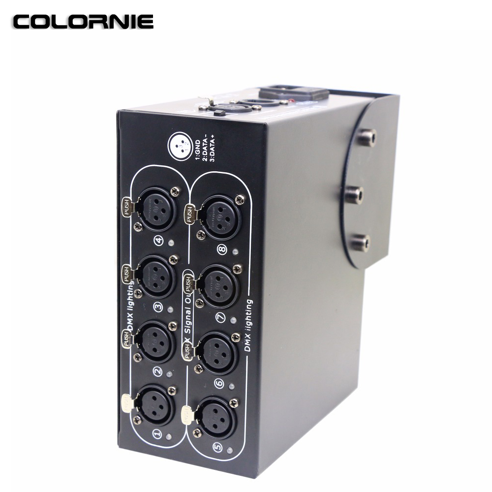 AC100 240V Input DMX Splitter 8way DMX Splitter Stage Light Effect Signal Repeater DMX512 Signal Distributor