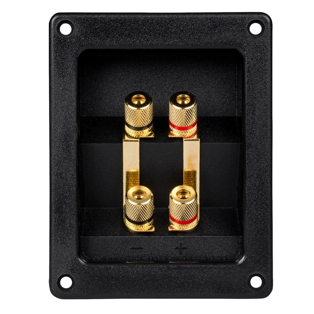 4 PC SUBWOOFER CONNECTOR BINDING POST SPEAKER JACK BOX TERMINAL SCREW CUP PLATE
