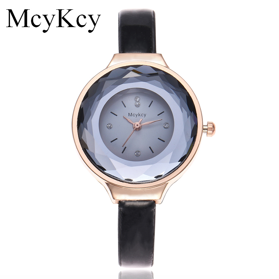 McyKcy Brand Women Rhinestone Watch Luxury Rose Gold Fashion Leather Strap Quartz Watches Clock Relogio Feminino Drop Shipping недорго, оригинальная цена