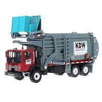 KAIDIWEI Alloy Engineering Vehicle model 1:24 material Transporter Garbage Truck