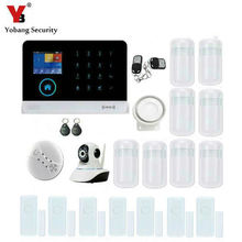 YobangSecurity Wireless Wifi RFID GSM SMS ANDROID IOS APP Home Burglar Security Alarm System Video IP Camera Smoke Fire Sensor