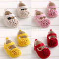 Retail free shipping 2015 Girls Big flowers baby toddler shoes 11cm 12cm 13cm spring autumn children footwear first walkers