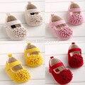 Varejo frete grátis 2015 Meninas flores Grandes sapatos de bebê da criança 11 cm 12 cm 13 cm primavera outono crianças calçado primeiros caminhantes