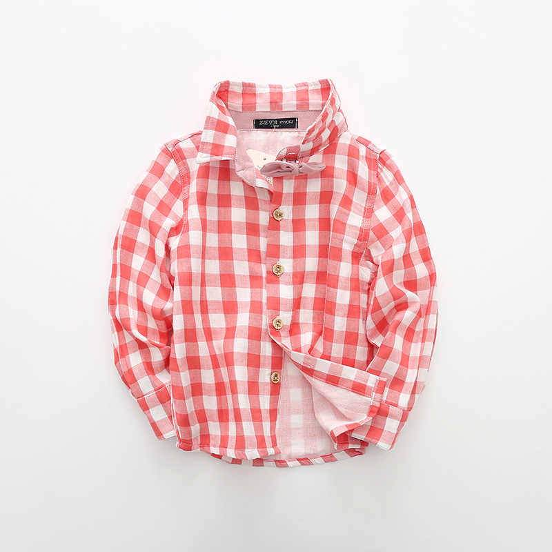 בני מותג כותנה חולצה משובצת תינוק ילד 2018 סתיו אביב חולצות שרוול ארוך חולצות מקרית גודל ילדי צמרות עבור 2 3 4 5 6 78 שנים