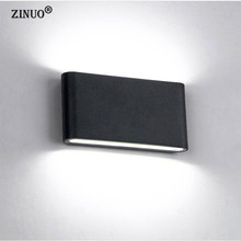 ZINUO IP65 Waterproof 12W COB LED Wall Light AC85-265V Fixtures Outdoor Lamp Simple Style Indoor/Outdoor Decoration