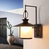 Американский Открытый водонепроницаемый настенный светильник Лофт прохода свет лестница лампа креативный Ретро кованого железа сад балко