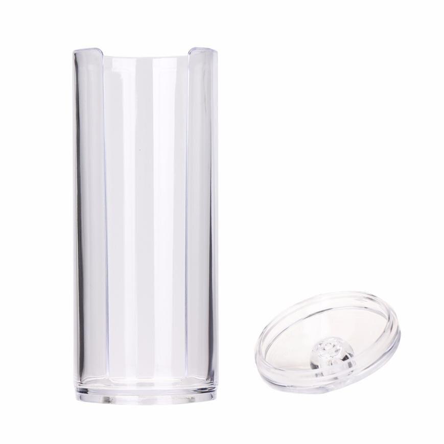 1PC Portable Storage Case Container Round Transparent Make up Cotton Pad storage Box 2JY26